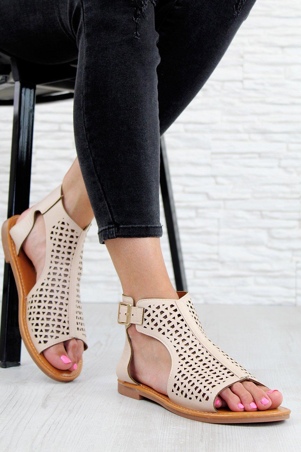 LY9039 3BE Béžové sandále (2)