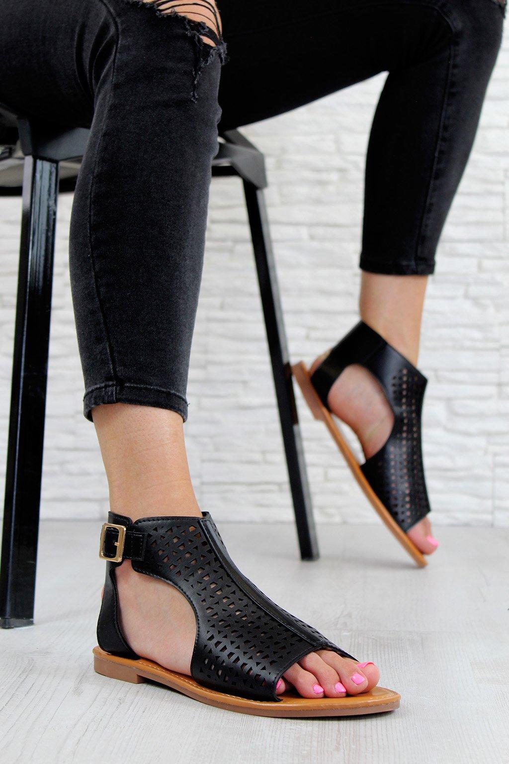 LY9039 1B Černé sandále (1)