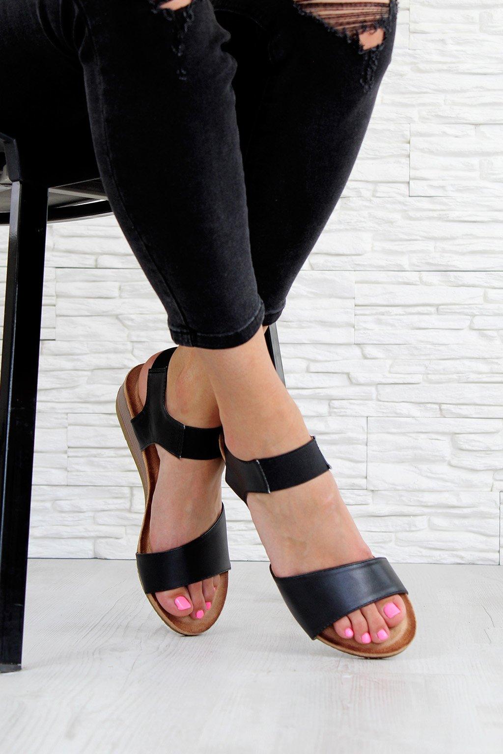 AB9173 1B Sandále na klínku (3)