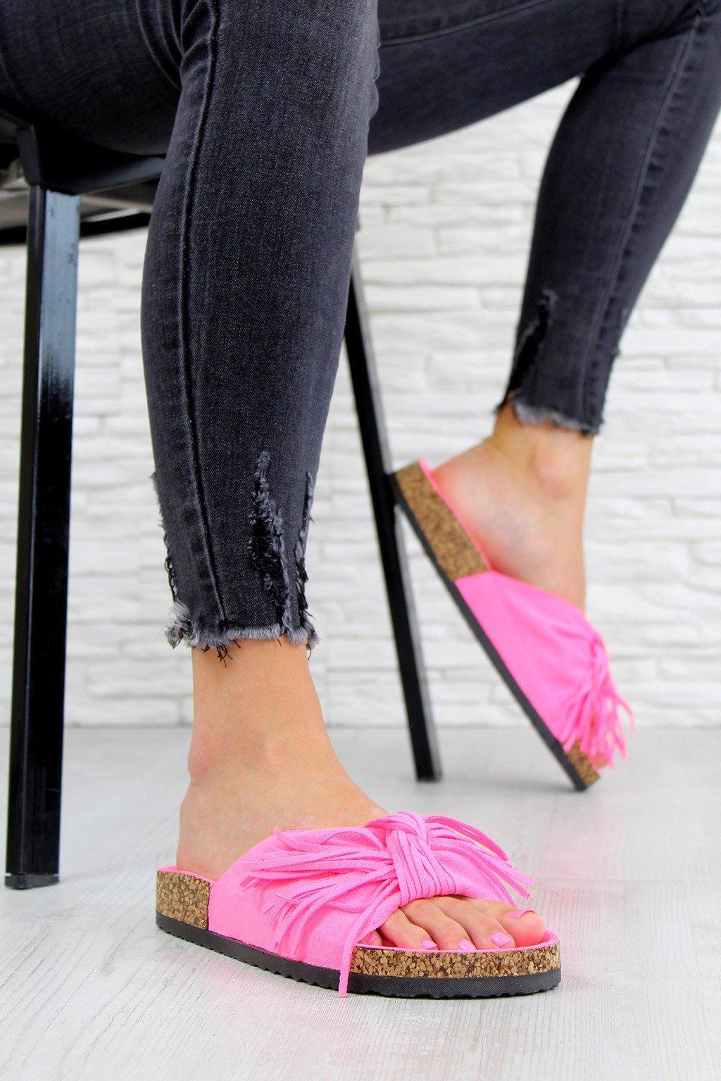 G 598 10FU Neon pink pantofle (1)