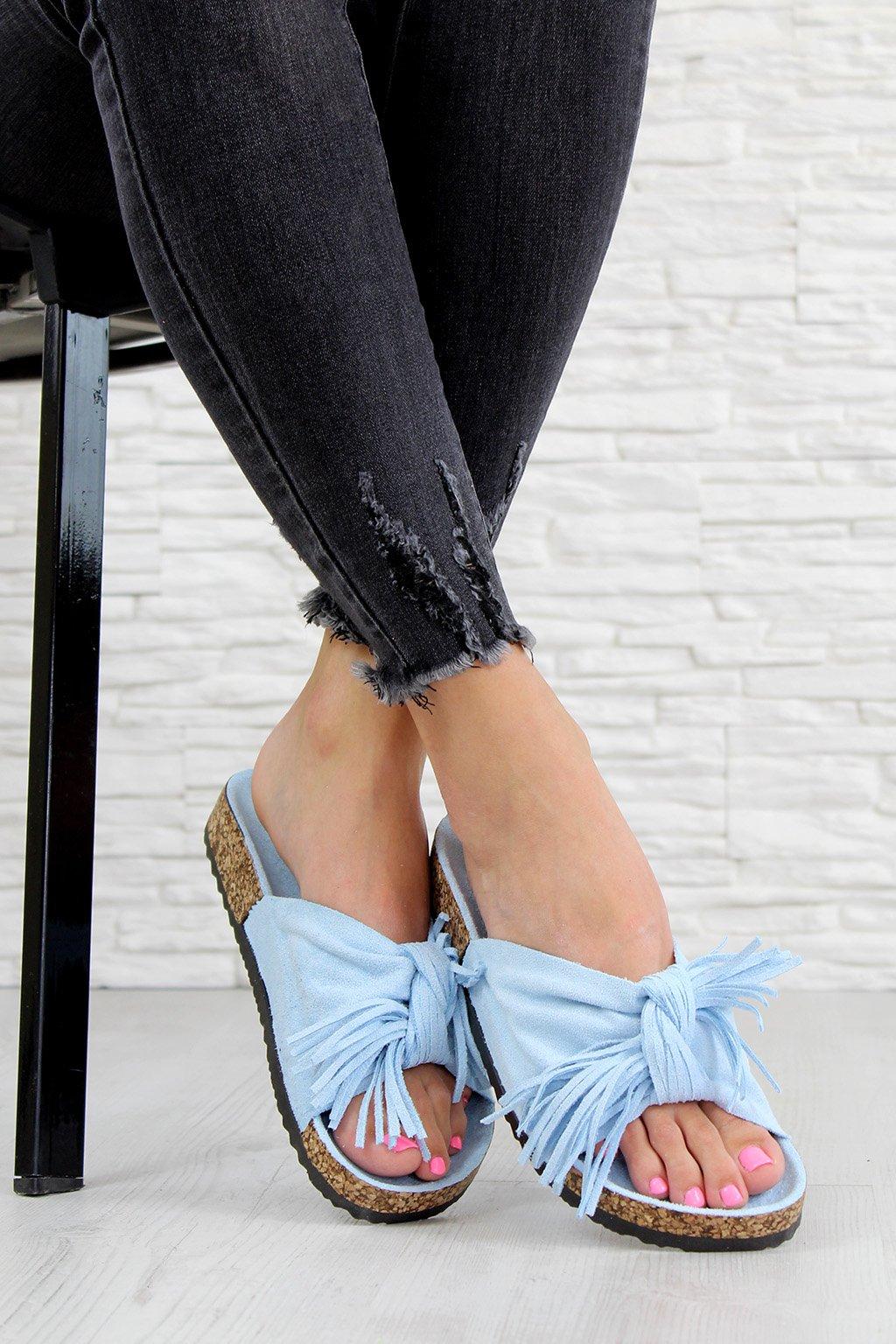 G 598 05BL Modré pantofle (3)