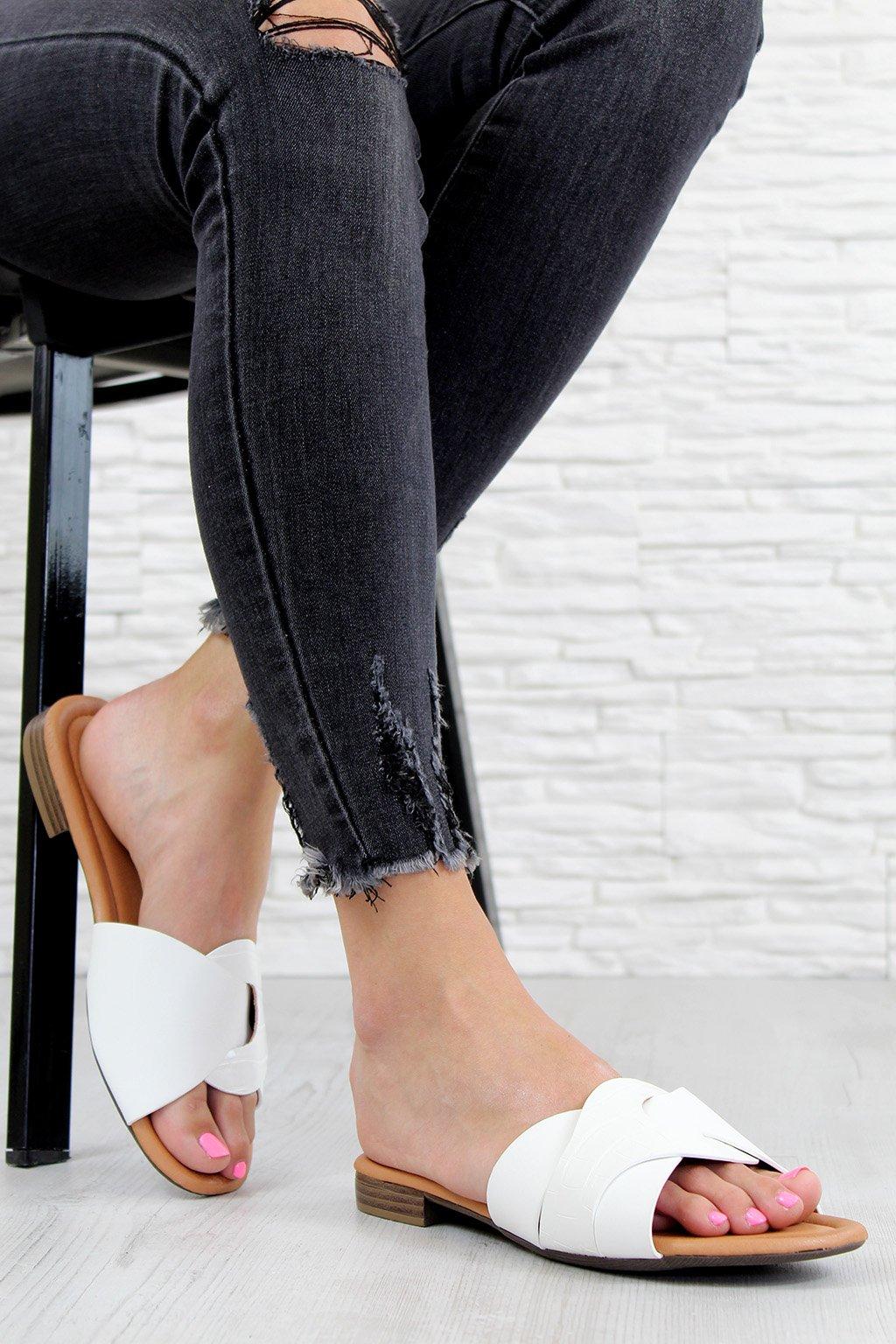 715 3WH Bílé pantofle (3)