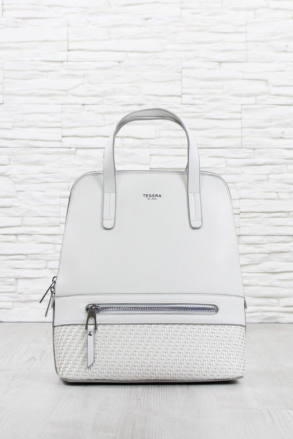 Elegantní bílý batoh 2v1 5519 TS (1)
