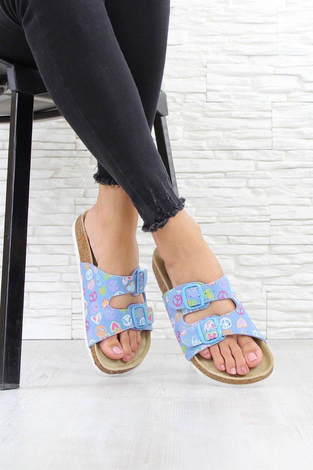 Dámské modré pantofle 999N.LT (3)