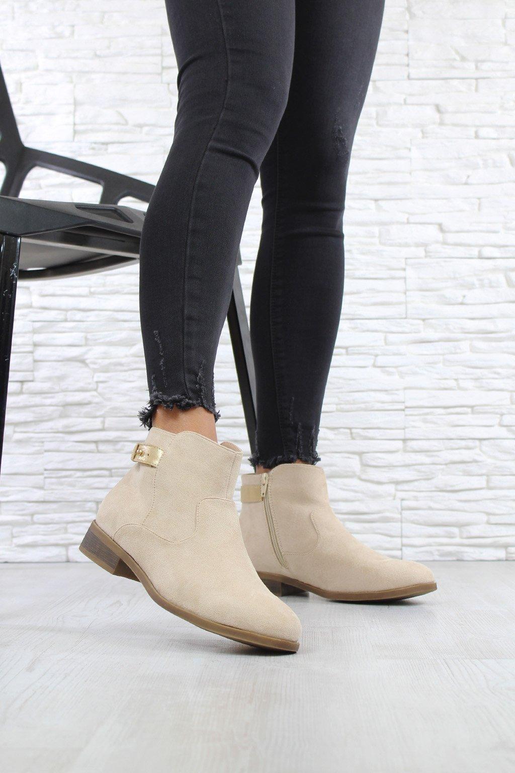 Světlé kotníkové boty 901BE (3)