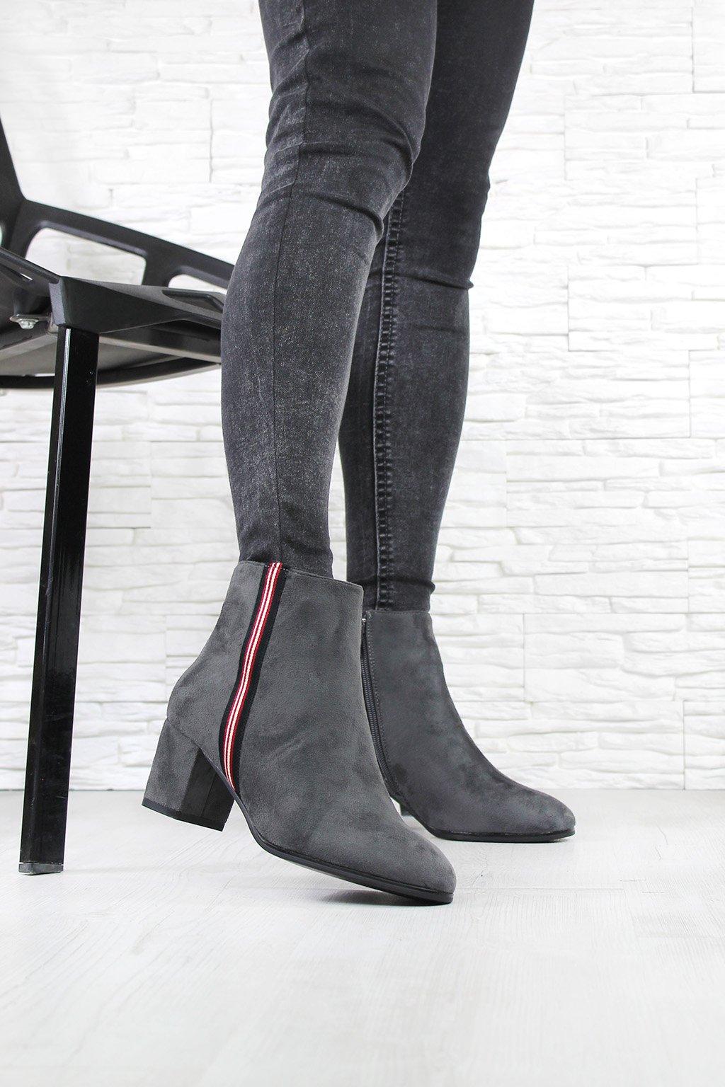 Kotníkové boty na podpatku W128-5G