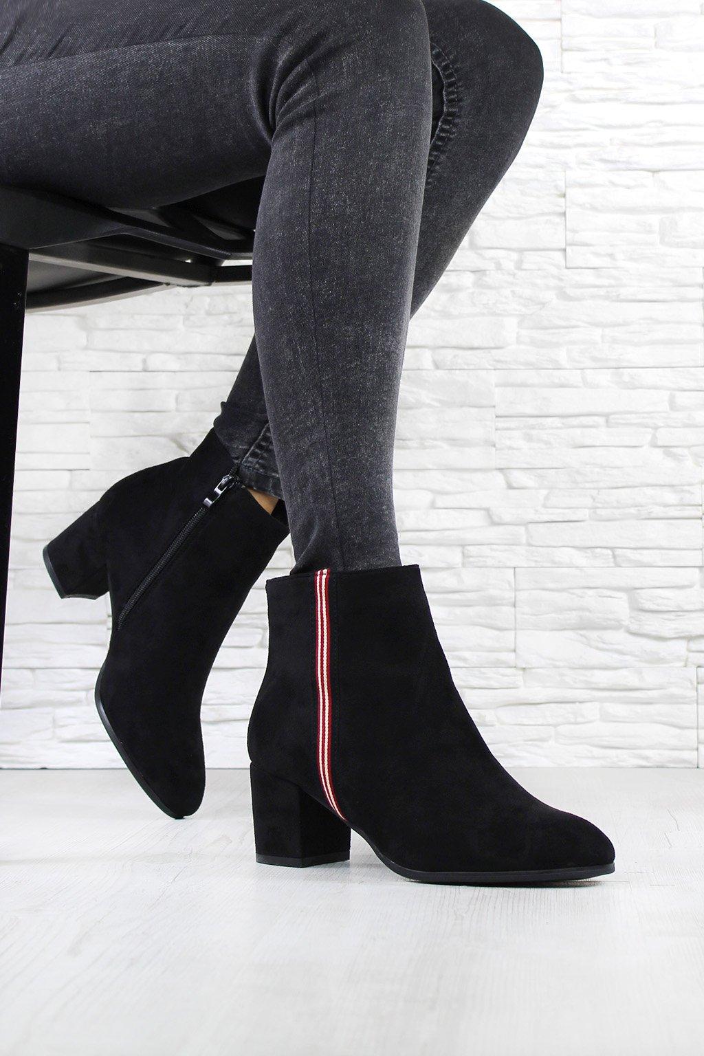 Kotníkové boty na podpatku W128 1B (2)