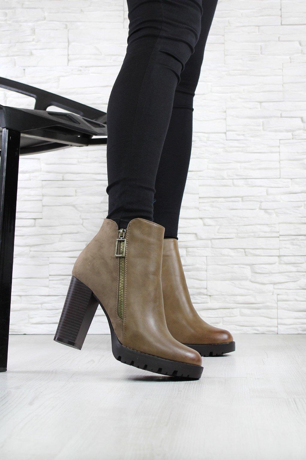 Kotníkové boty na platformě 4019 2KH (4)