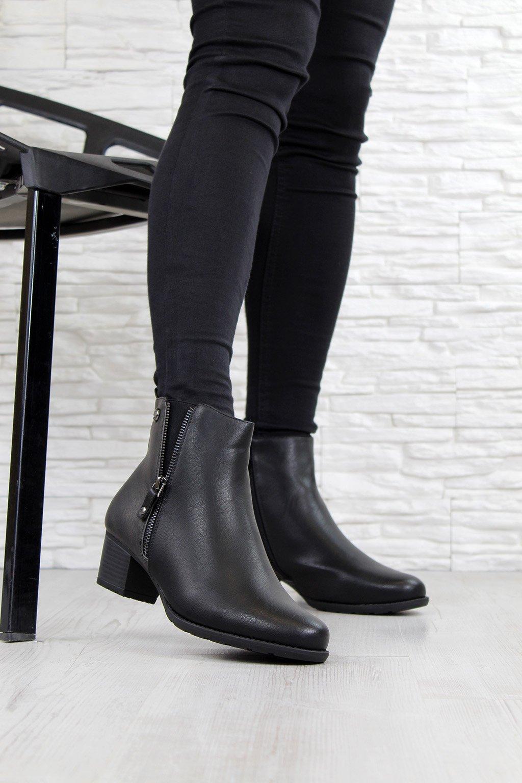 Kotníkové boty na podpatku SG 169B (3)
