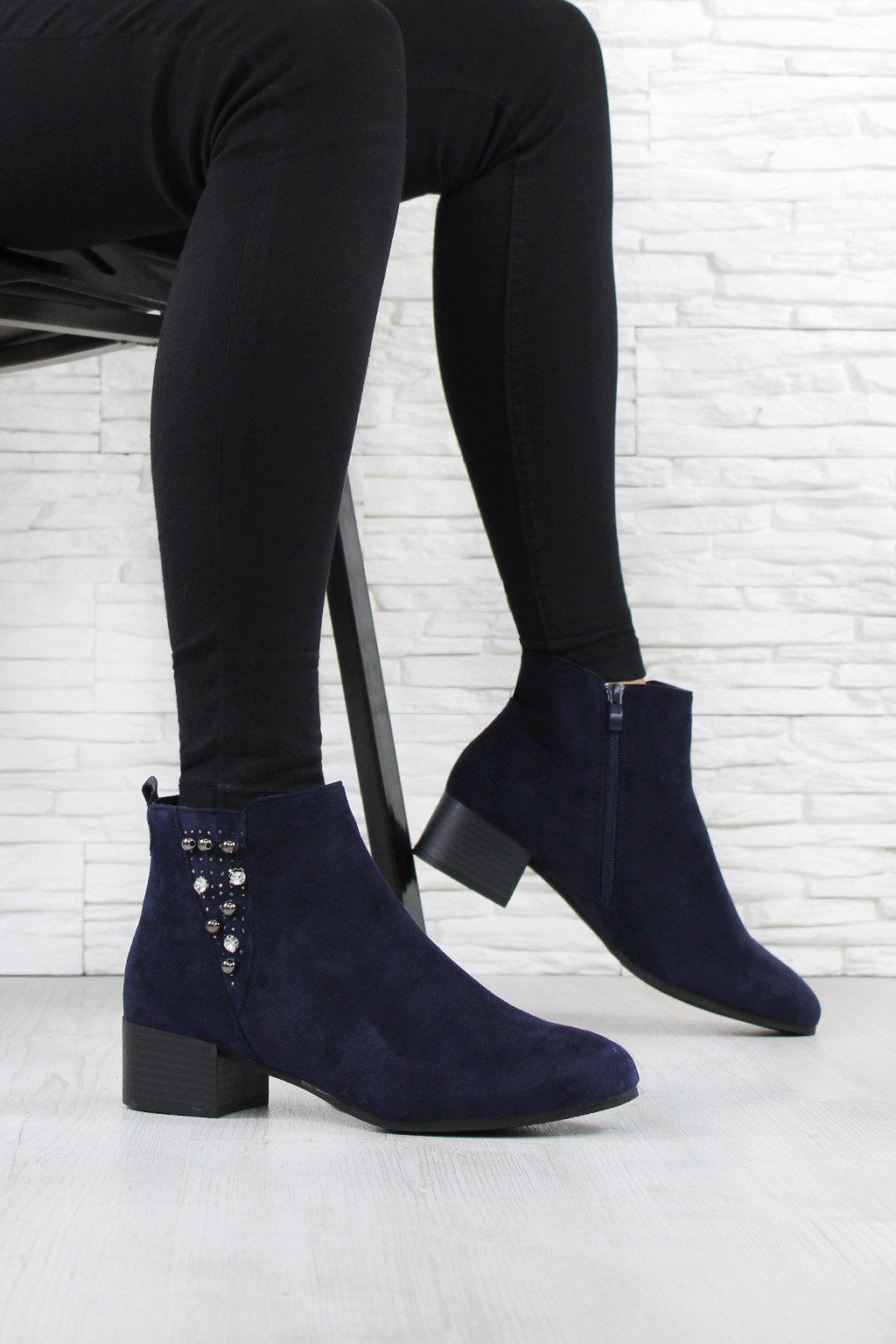 Semišové kotníkové boty 5796 11BL (2)