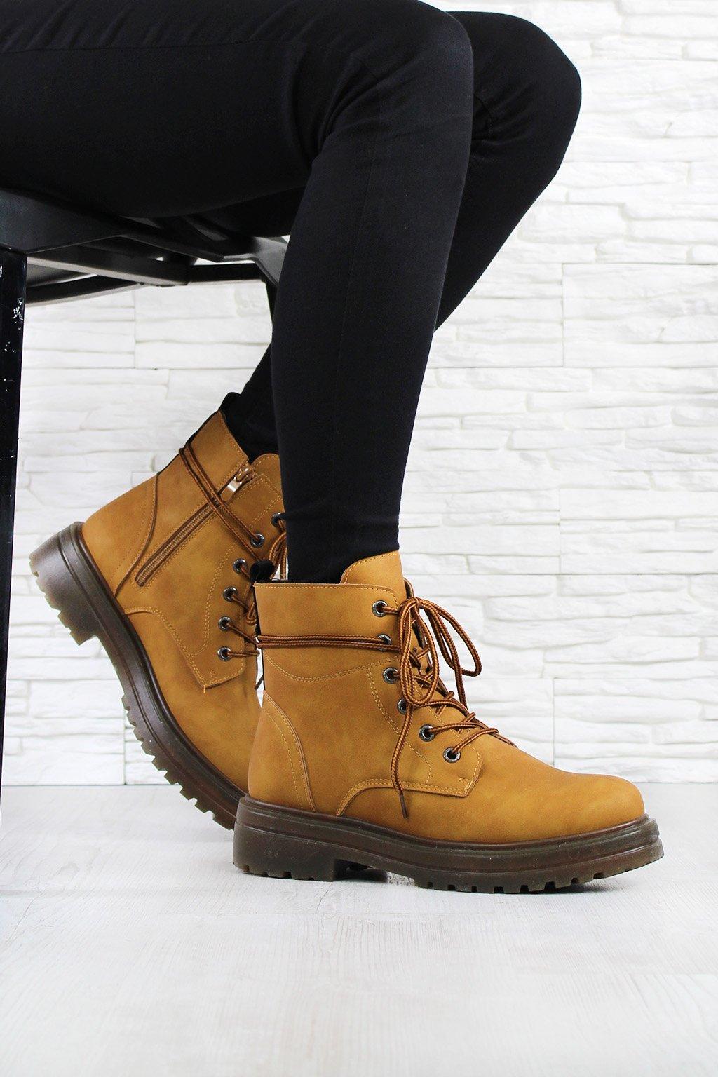 Kotníkové boty camel D001CA (1)