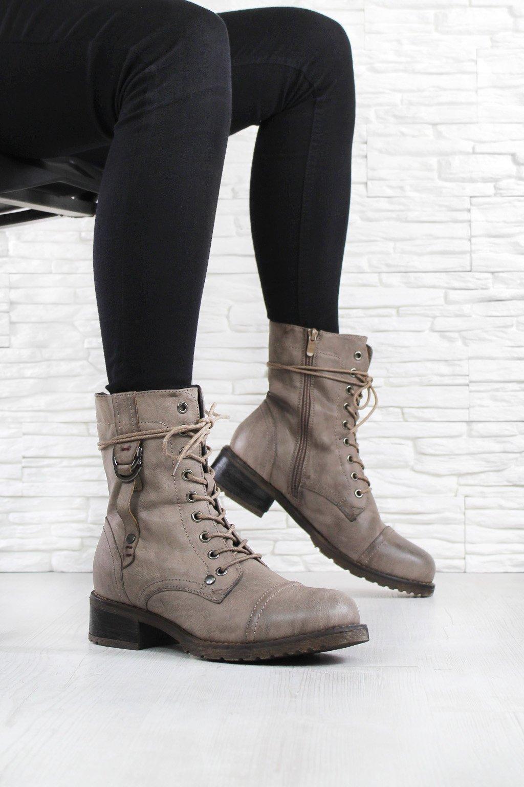 Kotníkové šněrovací boty 6416CA