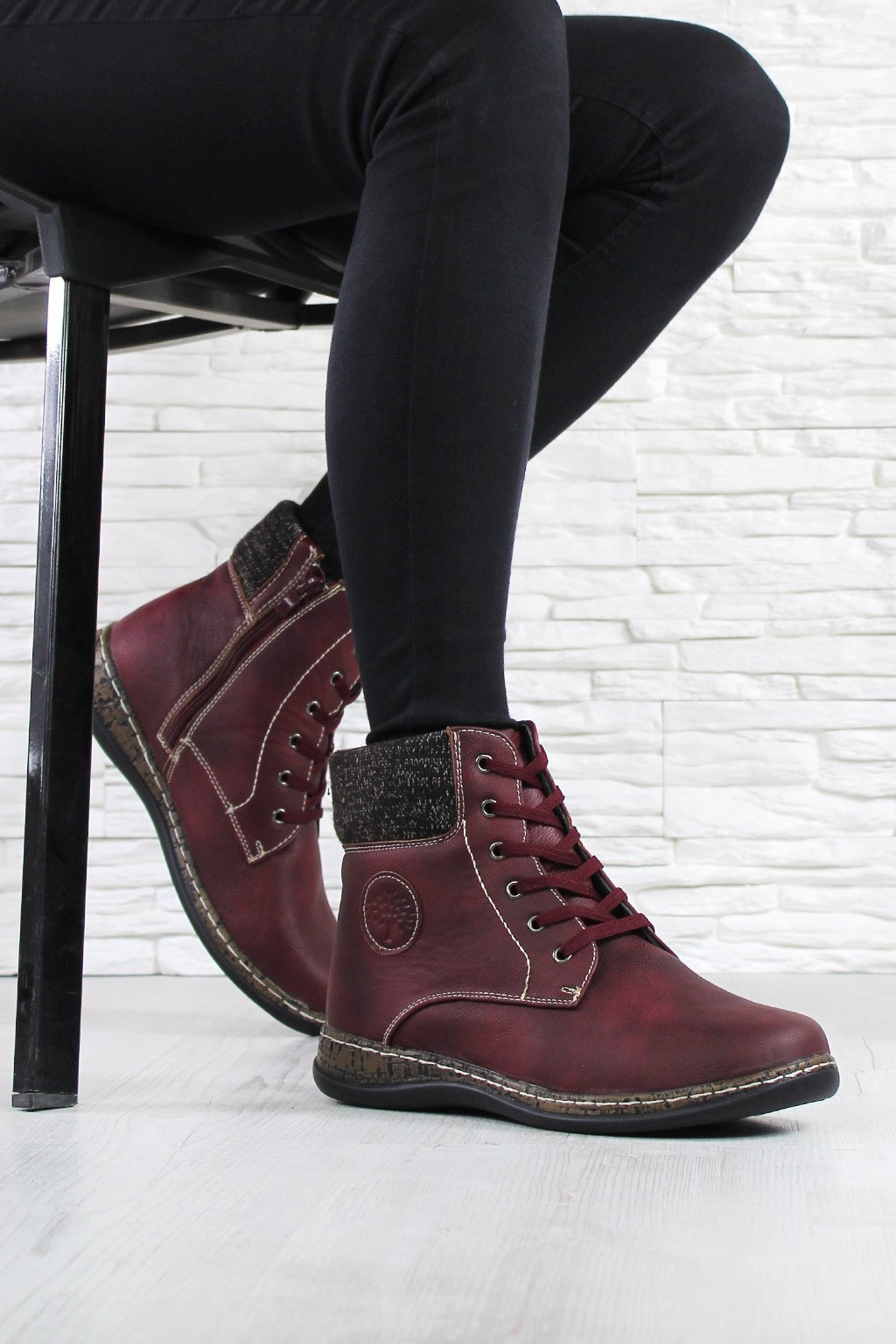 Dámské šněrovací boty 6455R (3)