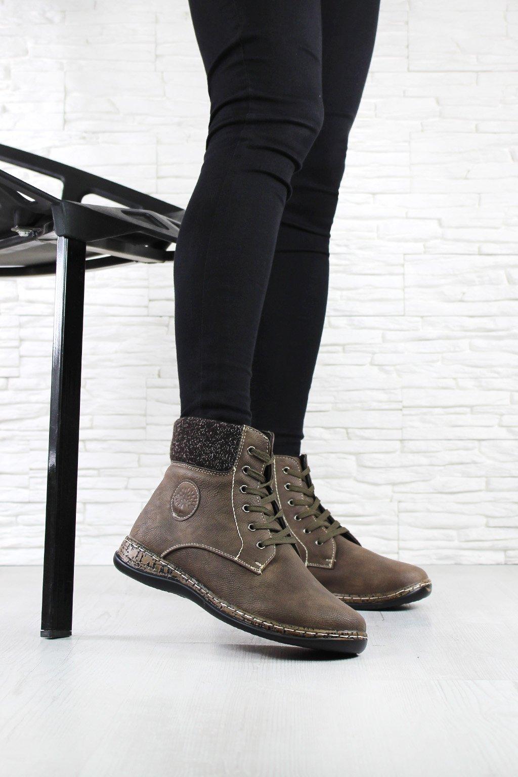 Kotníkové šněrovací boty 6455BR (3)
