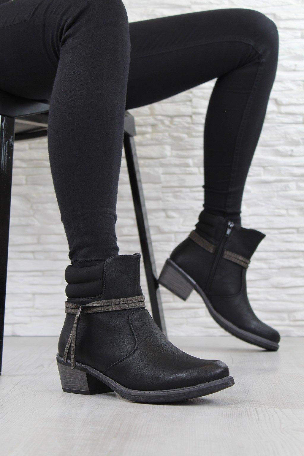 Zimní kotníková obuv PE1723 1B (2)