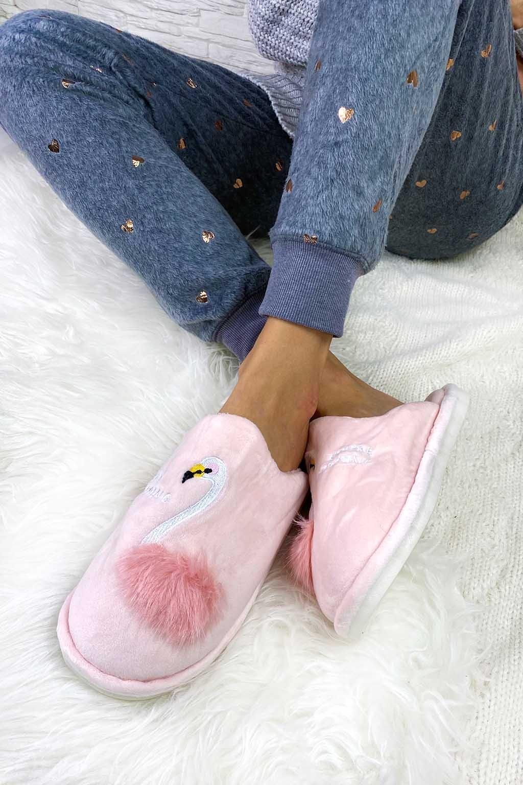 Domácí pantofle labuť