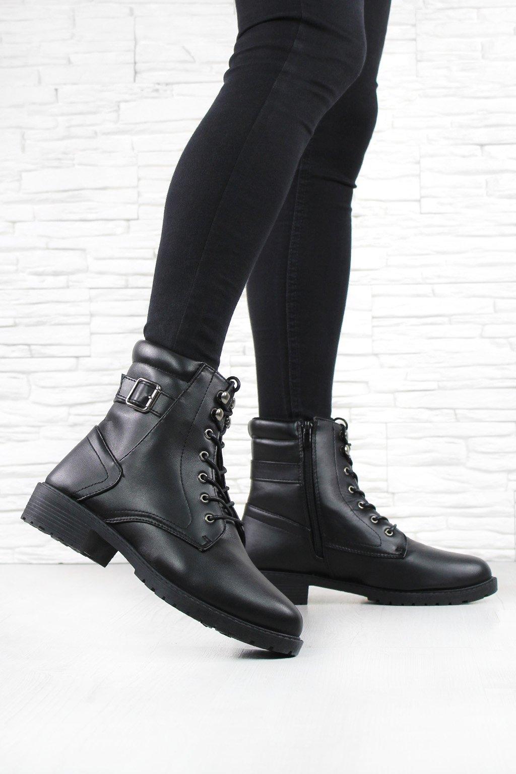 Kotníkové šněrovací boty JB043 1A (1)