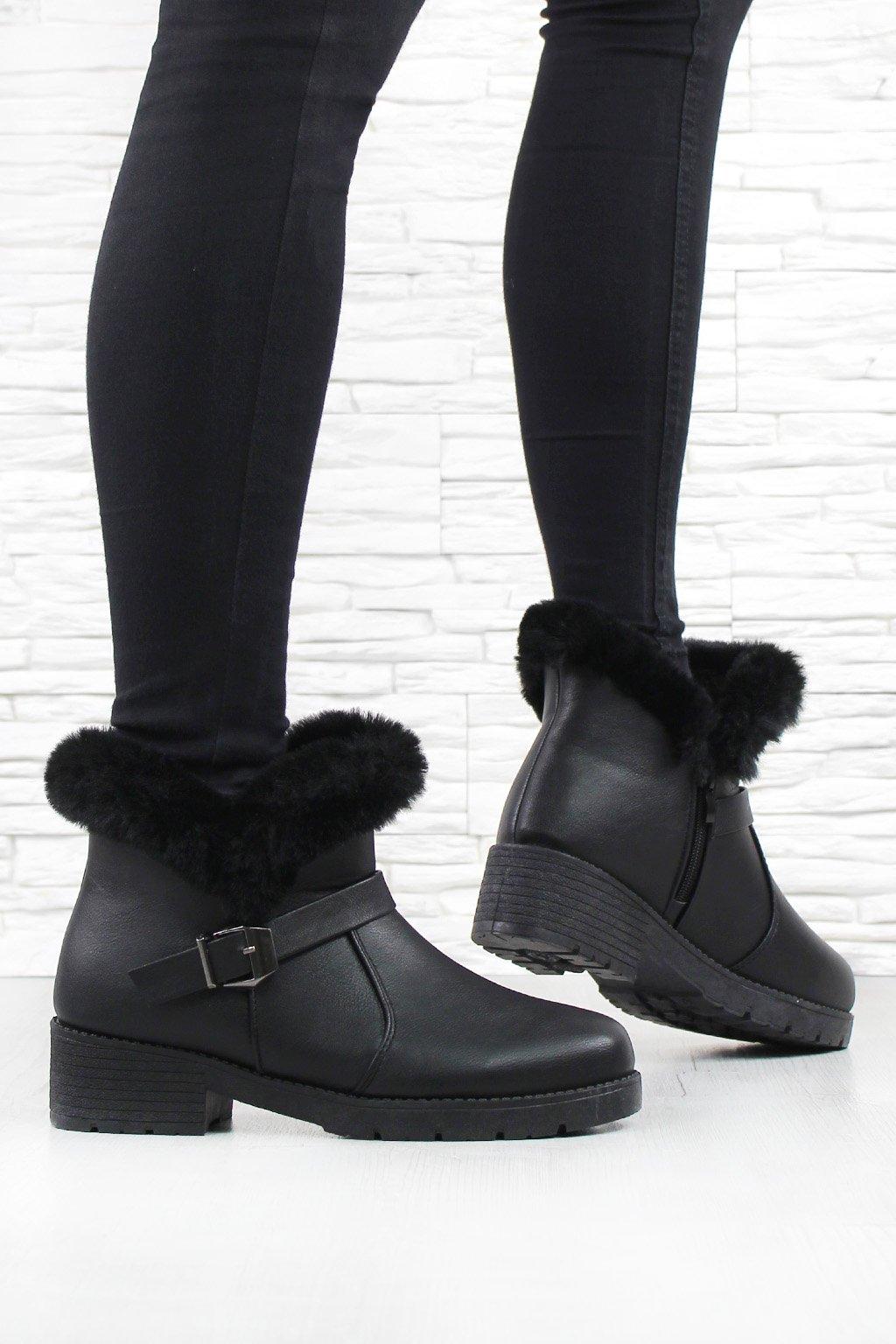 Kotníkové boty SJ1820 1B (1)