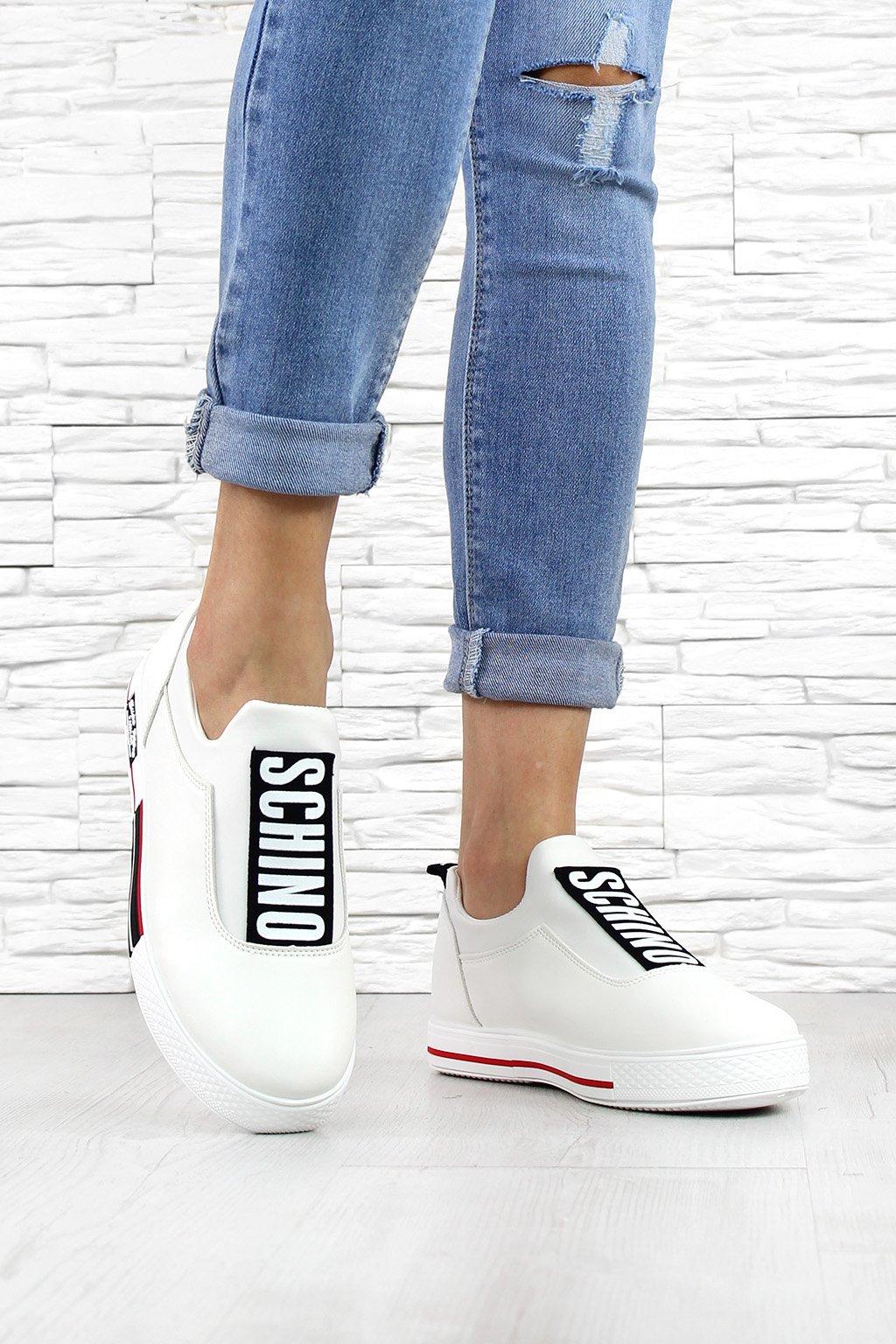 Dámské bílé botasky 0017WH