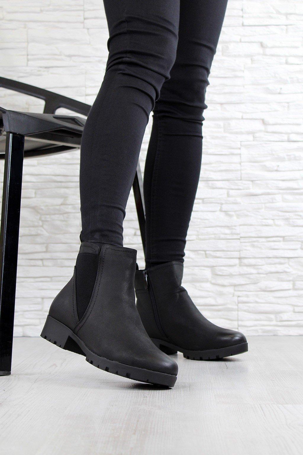 Zimní černé boty X9840B (3)