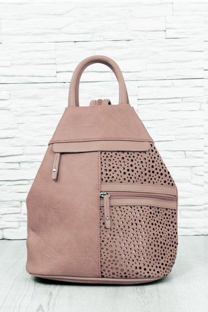 Ruzovy batoh na jedno rameno