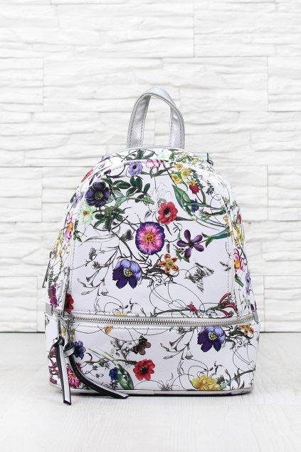 Květovaný batoh A172WH (2)
