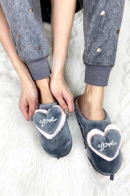 Domaci papuce Gray