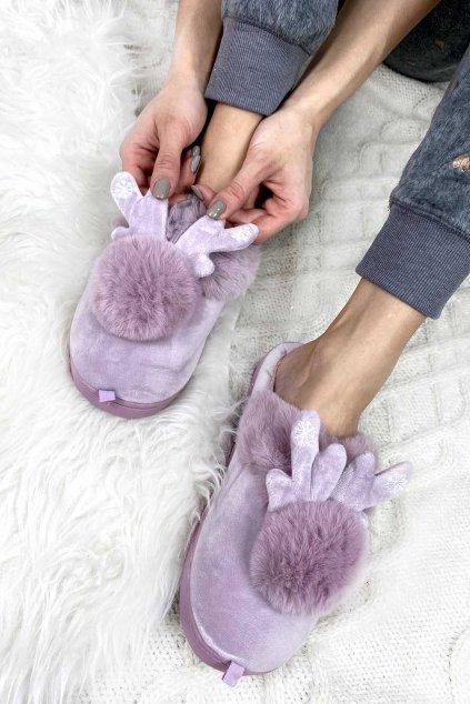Vanocni papuce damske 1