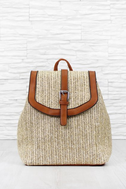 Dámský slaměný batoh 7459KH (1)