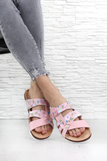 Růžové pantofle 418PI