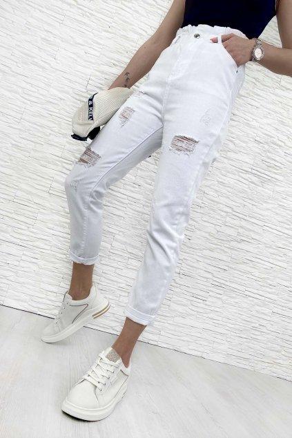 Bile paperbag kalhoty 1
