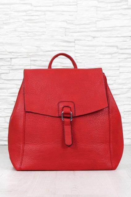 Dámský červený batoh 7583R (2)