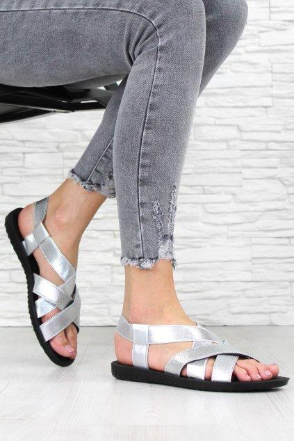 Stříbrné sandály 2025SI (2)