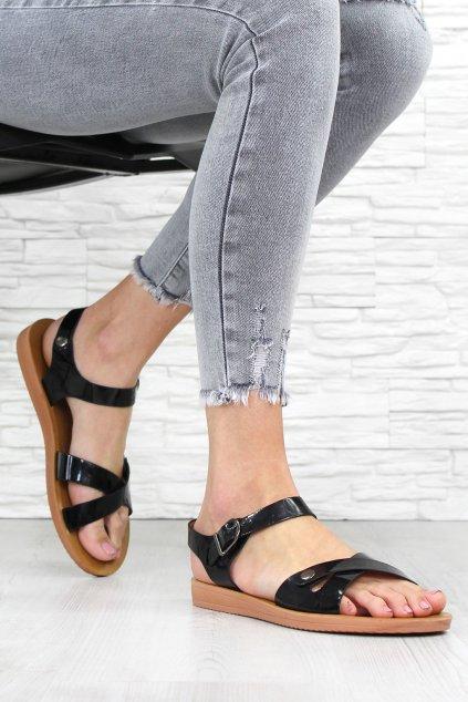 Černé sandále G147P (2)