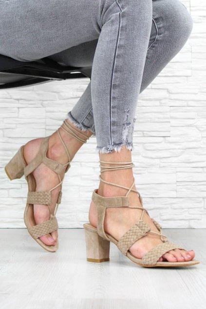 Letní sandály na podpatku 8141 14BE (2)