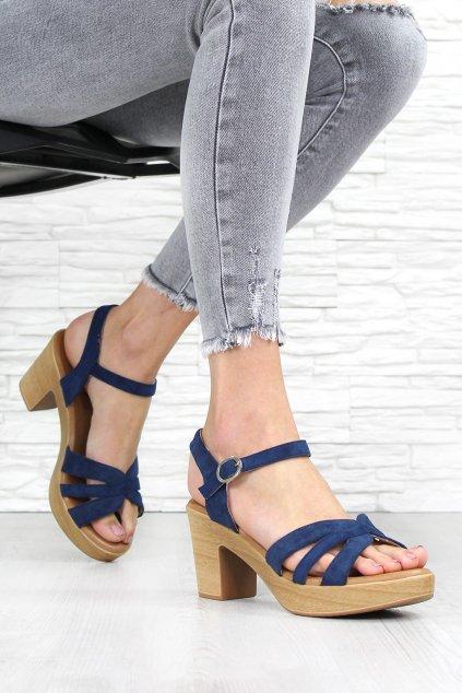 Sandály na podpatku E016 2NA (1)
