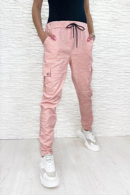 Ruzove kalhoty damske