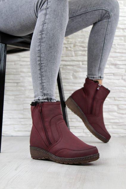 Zateplené kotníkové boty 022 6R (1)