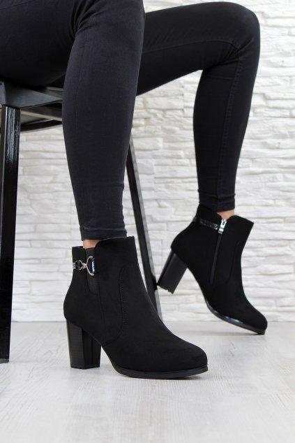 Černé boty na podpatku CK53 2B (2)