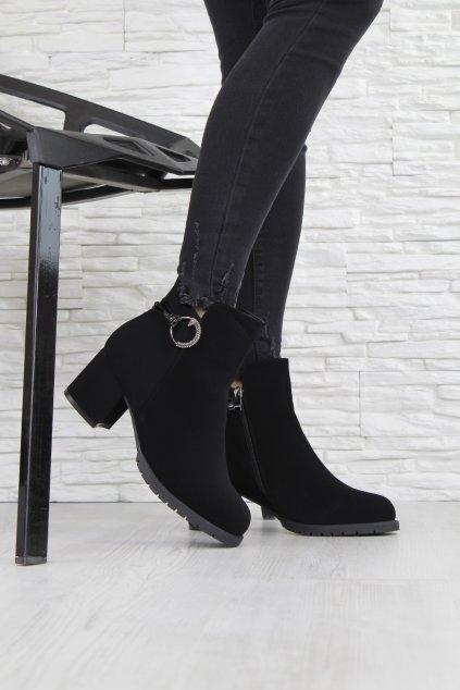 Dámské boty na podpatku CK59B (1)