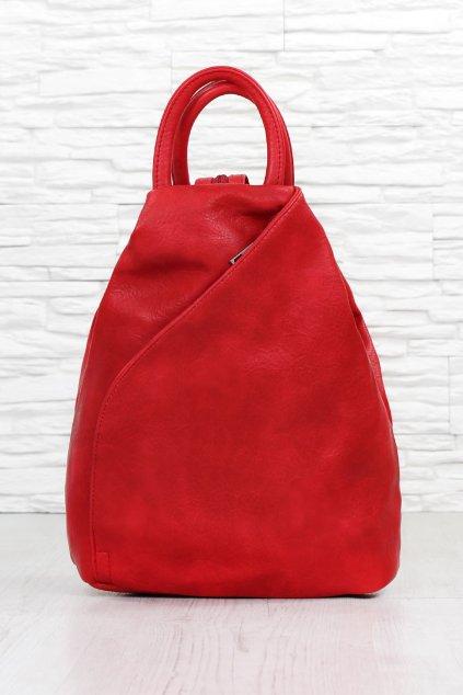 Dámský červený batoh ZXJ803R (2)