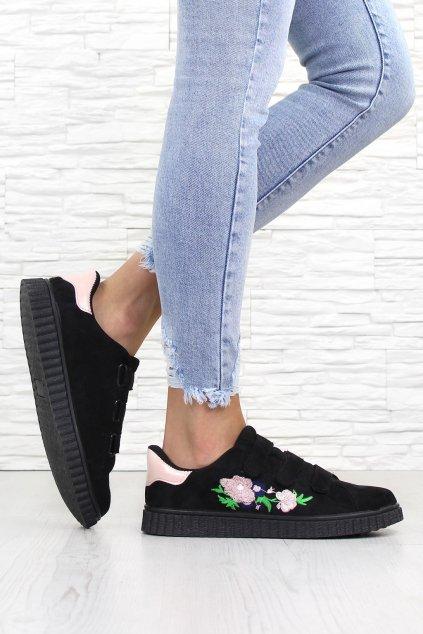 Černé botasky na suchý zip 666 29B (1)