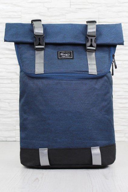 Modrý rolovací batoh DR 9019BL (2)