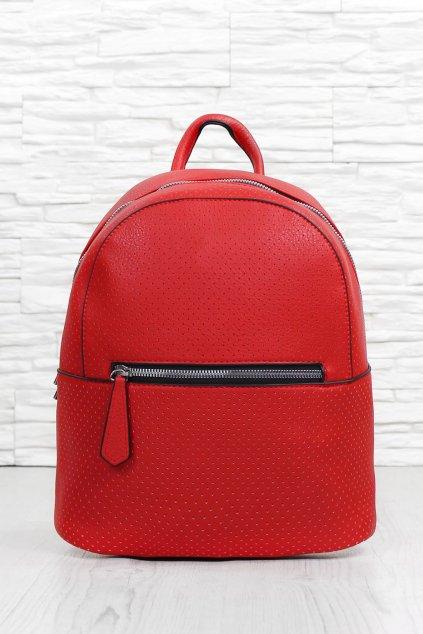 Dámský červený batoh 4252 BB R (2)