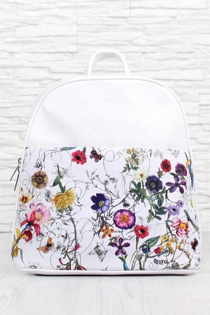 Květovaný dámský batoh A 2338WH (1)