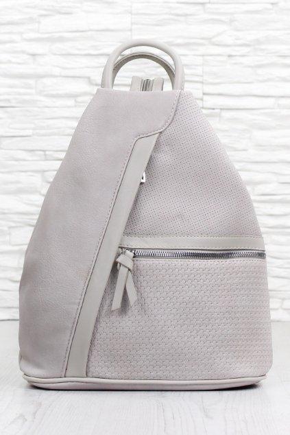 Dámský šedý batoh 5291 BB G (1)
