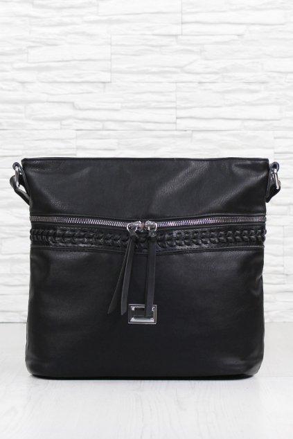 Dámská černá kabelka přes rameno 2375B (1)
