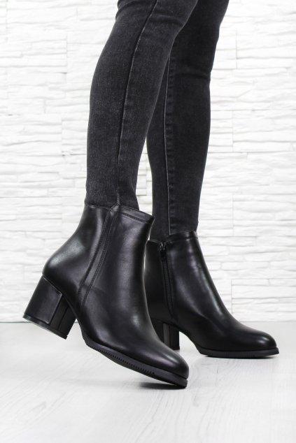 Dámské boty na podpatku 21ZY6073 1B (2)