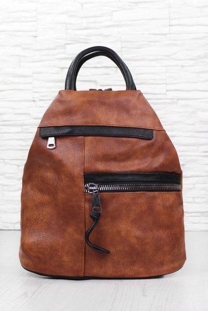 Hnědý dámský batoh 18314 1BR B (1)