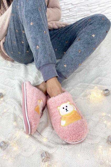 ruzove papuce damske